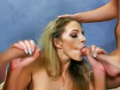 Double fuck, Threesome swallow, Swallow hot, Swallow double penetration, Double vaginal fucking, Double penetration cum swallow