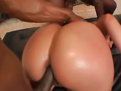 Licking black ass, Big titty, Big bang, Titty handjob, Threesome redhead, Threesome handjobs