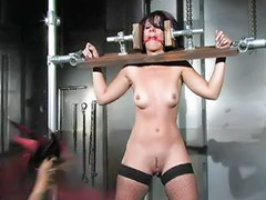 Domination, Fetish bondage, Standing, Clothespin, Couple dominant, Domination couple